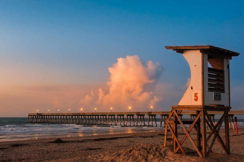 Lone Lifeguard Stand