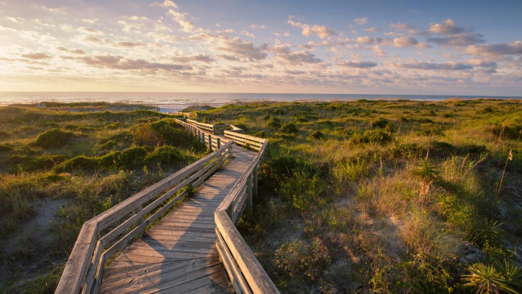 Sunup walkway
